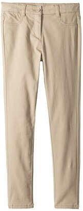 Nautica Stretch Five-Pocket Sateen Pants (Big Kids) (Su Khaki) Girl's Casual Pants