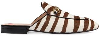 Gucci Princetown zebra print slippers