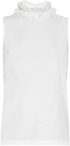 See by Chloe Ruffled-neck sleeveless cotton top