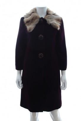 Miu Miu Burgundy Coat for Women