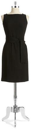 Anne Klein Tie Waist Sheath Dress