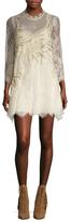 Free People Swan Lace Mini Dress