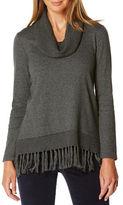 Rafaella Tassel Hem Sweater
