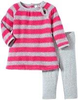 Petit Lem La Plus Jolie Dress Set (Baby)-Fuchsia/Gray-3 Months