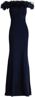 Aidan Mattox Off-The-Shoulder Ruffle Gown
