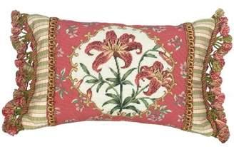 Petit Point Astoria Grand Eckenrode Tiger Lily Wool Lumbar Pillow Astoria Grand