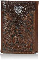 Ariat Men's Oak Embossed Trifold Wallet