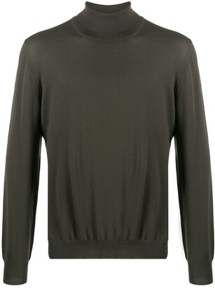 Barba Fine Knit Turtleneck Sweater