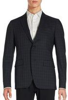 John Varvatos Austin Checkered Wool Blend Sportcoat