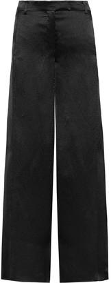 Valentino Hammered-satin Wide-leg Pants