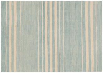 Ralph Lauren Home Bluff Point Stripe Rug sky/cream