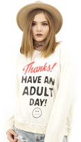 Wildfox Couture Adult Day Kim's Sweater in Vanilla Latte