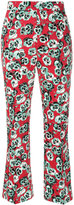 Marni Poetry flower cropped trousers - women - Cotton/Linen/Flax - 42