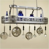 Hi-Lite Leaf Rounded Hanging Pot Rack with 2 Lights