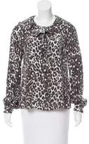 Kate Spade Silk Animal Print Blouse