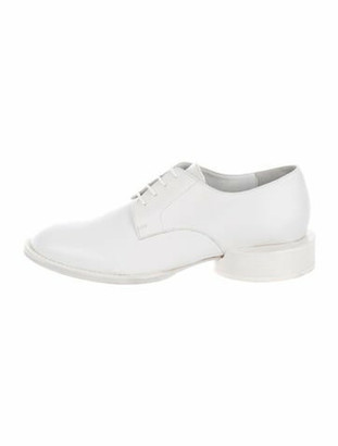 Jacquemus White Clown Derby Leather Oxfords White