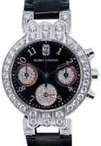 Harry Winston Premier Chronograph 200UCQ32W 18K White Gold & Leather 32mm Watch