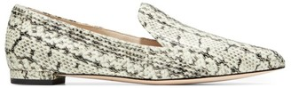Cole Haan Brie Snakeskin-Embossed Leather Loafers