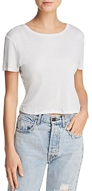 Alice + Olivia Cindy Crewneck Cropped Tee