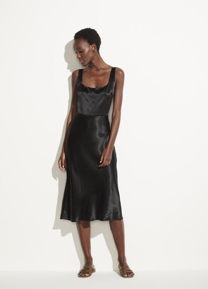 Vince Fitted Satin Slip Dress
