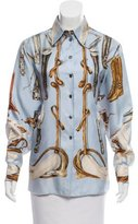Hermes A Propos de Bottle Silk Shirt