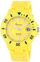 Freelook Women's HA1431-2 Sea Diver Neon Yellow Band Yellow Dial Watch