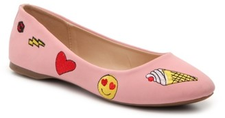 London Rag Emoji Ballet Flat