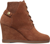 MICHAEL Michael Kors Carrigan lace-up suede wedge boots