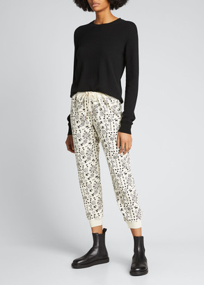The Great The Cropped Printed Sweatpants