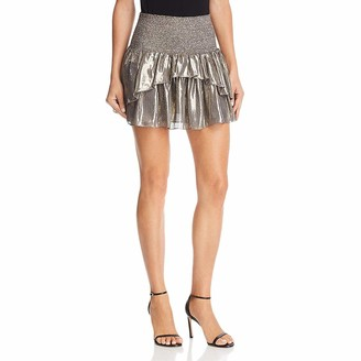 Ramy Brook Women's EVA Metallic Mini Skirt