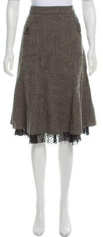 260f5f39bd Grey Flared Skirt - ShopStyle