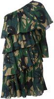 Sonia Rykiel one shoulder ruffle dress - women - Cotton/Spandex/Elastane/Viscose - 38