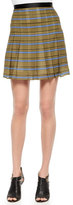 Ohne Titel Striped Pleated Silk Skirt