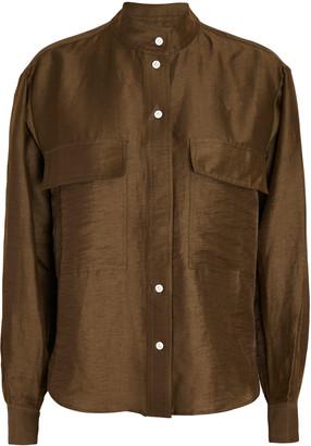 Frame Clean Safari Linen-Blend Shirt
