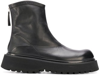 Premiata Panelled Leather Boots