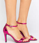 New Look Wide Fit Buckle Detail Barely There Heeled Sandal