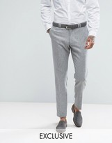 Noak Skinny Suit Trouser In Fleck Donegal