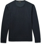 Club Monaco Pinstriped Wool-Blend Sweatshirt