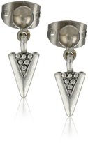 Shashi White Gold-Plated Tribal Charm Earrings