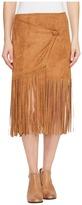 Stetson 0883 Faux Suede Asymmetrical Wrap Skirt