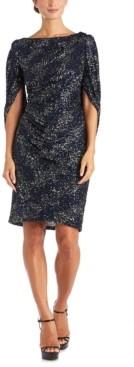 R & M Richards Cape Overlay Dress