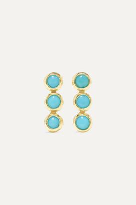 Jennifer Meyer 18-karat Gold Turquoise Earrings - one size