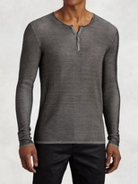 John Varvatos Silk Henley Sweater