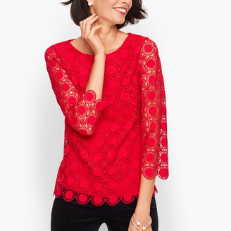 Talbots Medallion Lace Top