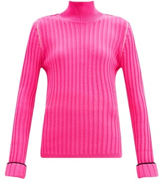 La Fetiche - Polly Ribbed Wool Roll-neck Sweater - Pink