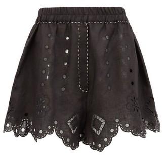 Vita Kin - Charlotte Broderie-anglaise Linen Shorts - Black