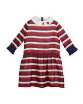 Gucci Web-Print Silk Dress, Size 4-12