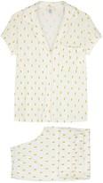 Eberjey Giving Pineapple-print Jersey Pyjama Set