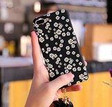 "Iphone 7 plus Glow Case,Jesiya Daisy Flower Pattern Cute Cartoon Animal Pattern Emoji Painting Night Light Ultar Thin Luminous Tassle Case For Iphone 7 plus 5.5"""