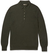 Bottega Veneta Slim-Fit Wool Polo Shirt